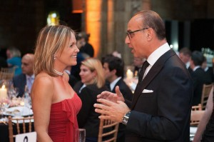 Lucy with 'Dragon' Theo Paphitis